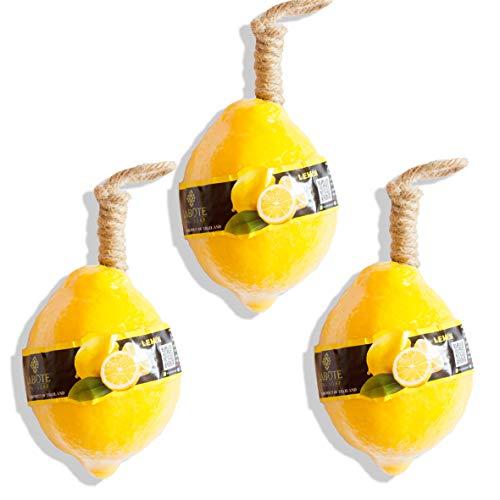 LABOTE Handgemachte thailändische Bio Naturseife Zitrone mit typischem Duft, 3 Stück