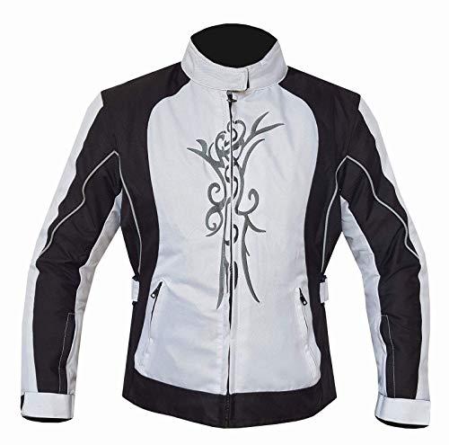Warrior Gears® Chaqueta de motocicleta para mujer | Armored CE | Impermeable para la lluvia motociclista Moto Riding Señoras