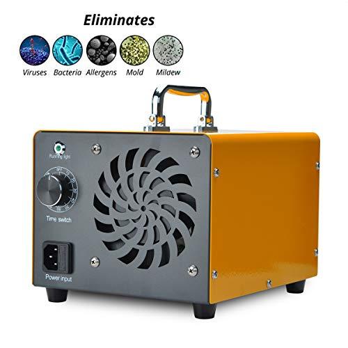 Generador de ozono Podazz, comercial 20000 mg / h 180W O3 Máquina Ionizador de aire para el hogar Purificador de aire Máquina desodorizadora para el hogar, la oficina, la cocina - Amarillo