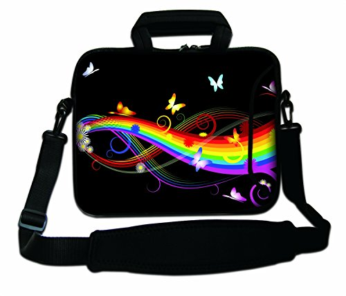 12' Inches Design Laptop Notebook Sleeve Soft Case Bag With Handle and Shoulder Strap Bag