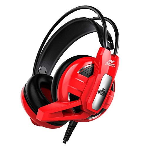 Ant Esports HD RGB LED Gaming Headset (H520W Red)