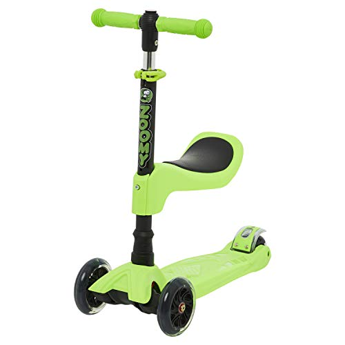 Zoomy Leisure Kids 2-in-1 Mini Scooter with Removable Seat (Green)