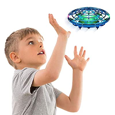Force1 Scoot Hand Operated Drone for Kids or Adults - Hands Free Motion Sensor Mini Drone, Easy Indoor Small UFO Toy Flying Ball Drone Toys for Boys and Girls (Blue)