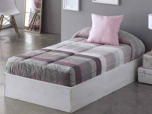 Sansa - Edredón Ajustable Dover - Cama 90 cm - Color Lila