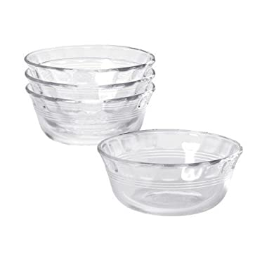 Pyrex Original 10 oz Custard Cup 4 pack,Clear glass
