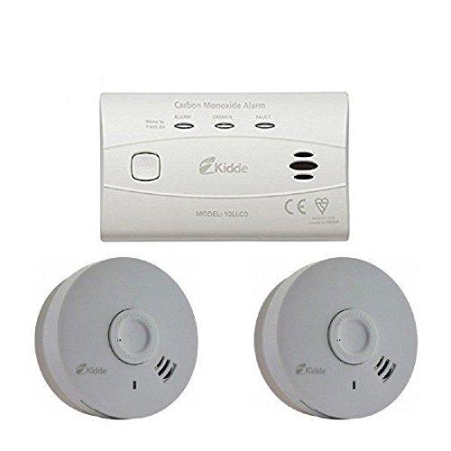 Kidde CO4SA - Alarma Doble de Humo y monóxido de Carbono - Pack de 10 años de Alarma de Seguridad - 10 años de batería sellada