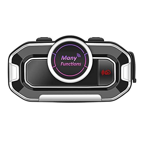Mogzank Auriculares para Casco con 5.0 para Motocicleta con ReduccióN de Ruido de MicróFono, Bajo Consumo de EnergíA, FM una Prueba de Agua