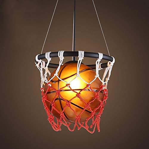 Kaper Go Retro Baloncesto Araña LED Personalidad Creativa Restaurante Bar Mesa Gimnasio Deportes Tema Arte Luz Entretenimiento Bar Decoración Araña