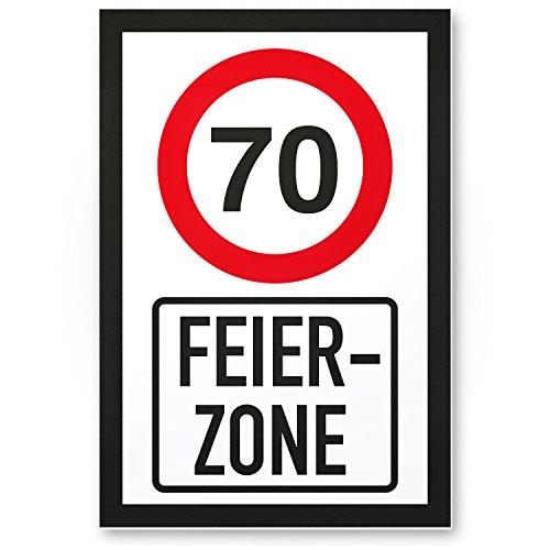 Bedankt! 70 jaar feestzone, plastic bord - Cadeau 70 verjaardag, cadeau-idee verjaardagscadeau zeventig, verjaardagsdeco/feestdecoratie/feestaccessoires/verjaardagskaart