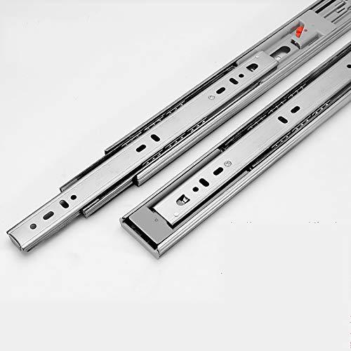 ZQLD Glissière de tiroir Pleine Extension robuste Capacité portante Tiroir Rail de tiroir Montaggio Laterale Portata Massima 45 kg