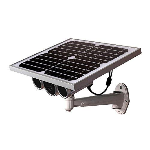 Telecamera IP Video sorveglianza LKM Security Wireless, HD 720P con 2 panelli solari. Batteria al Litio, Slot MicroSD, LED Infrarosso