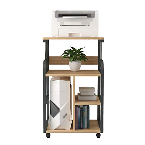 Estante de la impresora Soporte de impresora móvil de tipo piso, con estructura de metal, estante de fax multifunción de 3 capas, utilizado en el soporte de la copiadora del escáner de la sala de esta