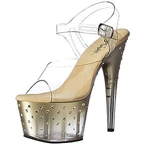 Pleaser Women's Stdus708t/c/g-c Platform Sandal