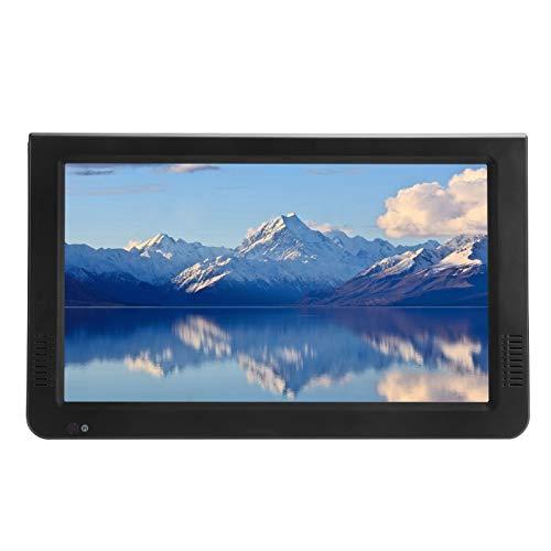 TV portátil de 10 Pulgadas, Compatible con DVB-T / T2 / TV analógica/TV Digital/ATV, televisión de Alta definición con Soporte, sintonizador de Alta sensibilidad, Compatible con Memoria Flash USB
