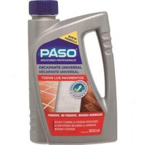 PASO - Decapante Universal Limpiador todo Pavimento, suelos Interior y Marmol, 1 L