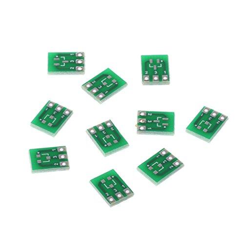 JENOR 10 Stücke Double-Side SMD SOT23-3 DIP SIP3 Adapter Platine DIY Konverter