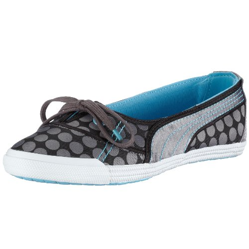 Puma Crete Ballerina Dot Wn's 350183 05, Damen Ballerinas, grau, (steel grey 05), EU 38 1/2, (US 8), (UK 5 1/2)