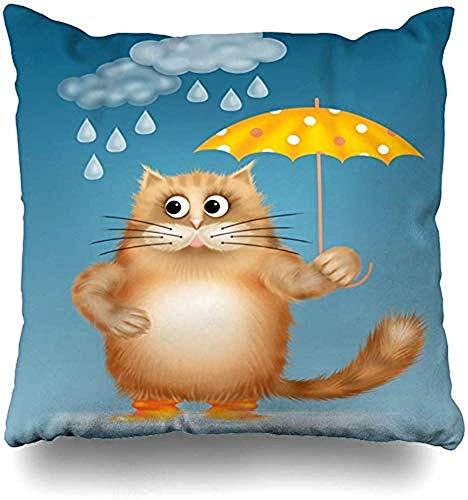 LisaArticles Kussenslopen, Kinderlijke Paraplu Emotion Een Sprookje Onweer Dieren Smile Tale Home Wildlife Boek Vakantie Kussenslopen