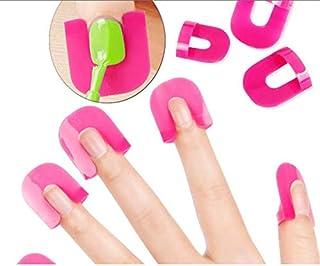 26 Pcs/lot Nail Polish Edge Anti-Flooding Plastic Template Clip Manicure Tools Set Gel Nail Art Tool - Rosy