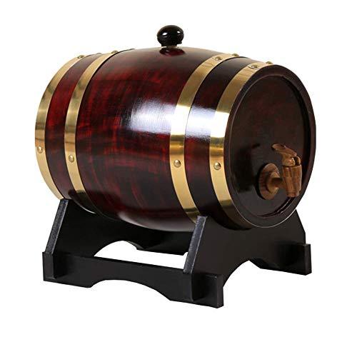 LYMHGHJ Dispenser per barili di Whisky da 1,5 Litri Botti per invecchiamento in Rovere Secchiello per Vino Domestico Decanter per Whisky per Vino, liquori, Birra e liquori (5 Colori), C