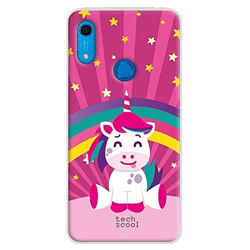 Funnytech® Funda Silicona para Huawei Y6s [Gel Silicona Flexible, Diseño Exclusivo] Unicornio Grande Rosa