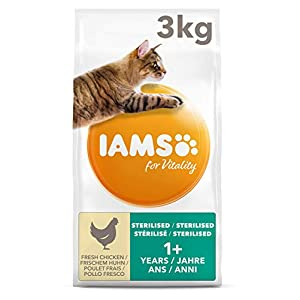 IAMS for Vitality Light in Fat/Esterilizado Alimento para gatos con pollo fresco [3 kg] 4