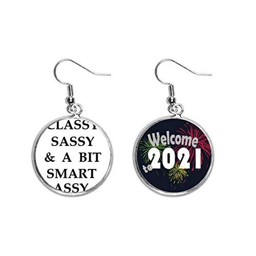 Pendientes con diseño elegante Sassy Bit Smart Assy para orejas de 2021 bendición