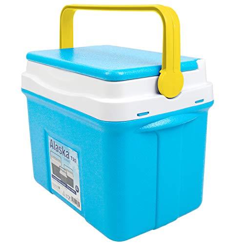 noorsk Klassische Kühlbox in verschiedenen Größen ideale Thermobox für das Auto und zum Camping - Blau - 28 L