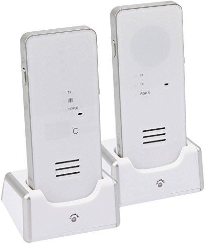 Hartig + Helling MBF 8181 Digitales Babyruf-Gerät (500 m Reichweite, Strahlungsarm, GegensprechFunktion, Babyfon, Babyphone Mit Hoher Reichweite, Temperaturanzeige und Batteriebetrieb) weiß