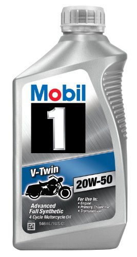 Mobil 1 96936 20W-50 V-Twin Synthetic Motocycle Motor Oil -...