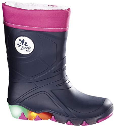 lupilu® Mädchen Regenstiefel 'Lovely Girl', gefüttert, Gr. 28/29 (Navy pink)