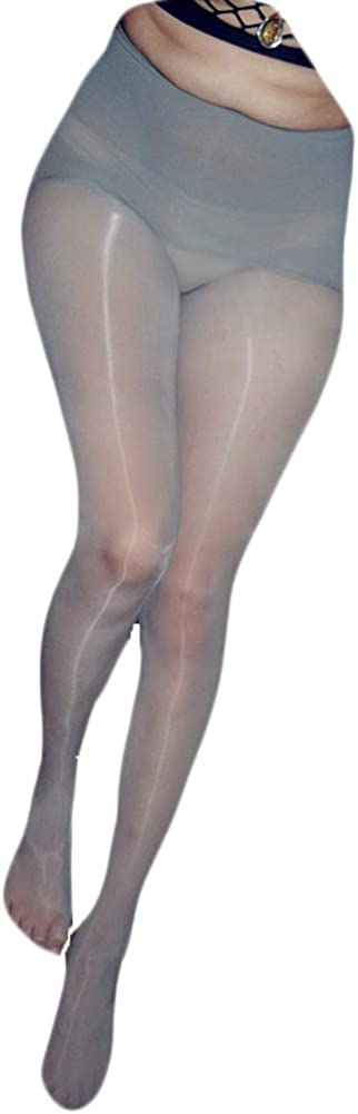 Tomtop201309 Women Sexy Seamless Ultrathin High Waist Pantyhose 8D Oil Glossy Shiny Tights Body Stockings