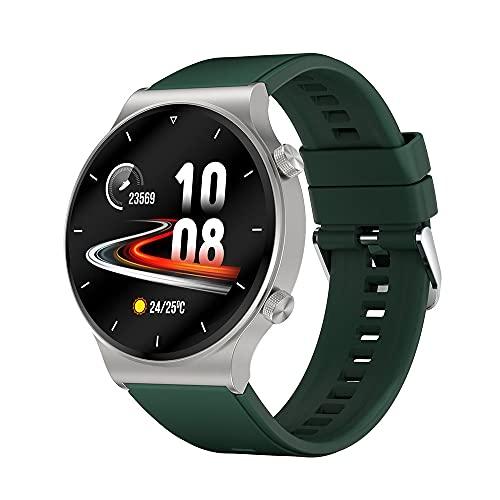 C12 Smart Watch Men's 2021 para GT2 Pro IP68 Smartwatch Smartwatch para Huawei Watch GT 2 Pro Custom DIAL Pantalla IPS de 1.3 Pulgadas, Monsteramy (Color : Silver Green)