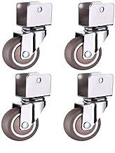 Zwenkwielen Roulettes de meubles 2 pouces 4 pièces  Roulettes de berceau, pince d'armoire avec roues de frein, roulette PI...