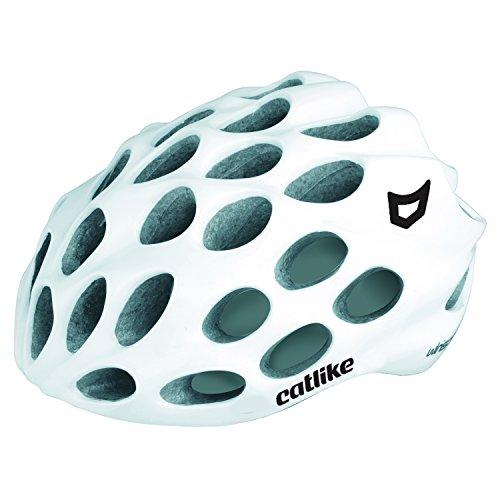 Catlike Whisper Casco Ciclismo, Unisex Adulto, Blanco Brillo, MD (56-58 cm)