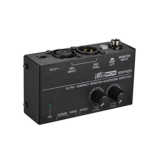Learn More About Muslady Ultra-Compact Monitor Headphone Amplifier Amp with XLR Microphone Input 6.3...