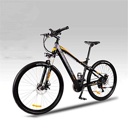 Bicicleta Eléctrica Plegable Bicicleta eléctrica de nieve, 27.5inch Montaña Bicicletas eléctricas, instrumento LED amortiguador frontal tenedor bicicleta adulto aluminio aleación bicicleta deportes al