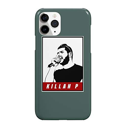 Killah P - Carcasa para iPhone 8, diseño de ventilador Art_MRZ2376, color negro y rojo