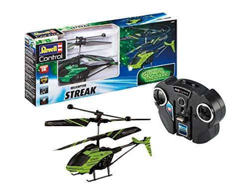 Revell Control- Glow in The Dark Helicopter Streak Elicottero telecomandato, Colore Nero, 23829