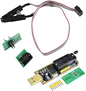 ZHITING SOIC8 SOP8 Flash Chip IC Clips de Prueba Adaptador de Enchufe Programador BIOS + CH341A 24 25 Series EEPROM Flash ...