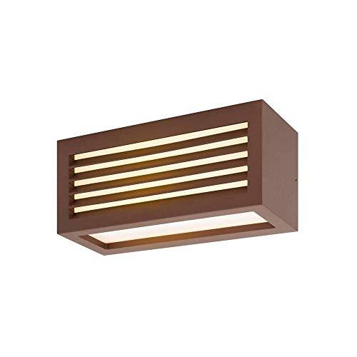 SLV LED Wandlampe BOX-L rost   effektvolle Außenbeleuchtung von Hauseingang, Wänden, Wegen, Terrassen, Fassaden, Treppen   LED Wandleuchte, Aussen-Leuchte LED, Garten-Lampe   LED Inside, 19W, EEK A++