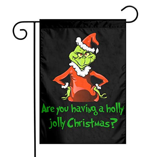 """FREDDIE-ADAMS The Grinch Stole Christmas Garden Sign Vertical Outdoor Decoration Yard Flag Double-Sided 12""""X18"""""""