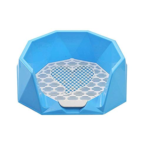 Maomaogougou huisdier benodigdheden huisdier hond toilet binnen Potty toilet lade training mesh pad beugel training hek toilet, Blauw