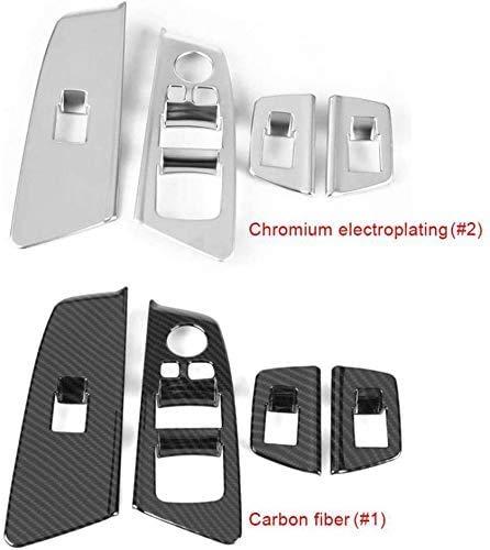 XHNICE 4Pcs Auto Auto Fensterschalter Lift Panel Knopf Rahmen Abdeckung Verkleidung Dekoration Für BMW 5 Serie G30 2017-2018, Chrom-Galvanisieren, Chrom-Galvanisieren