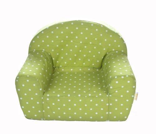 Gepetto Kinderstuhl grün I Gemütlicher Sessel für Kleinkinder und Babys oder als Puppensessel I Spiel-Möbel für das Kinderzimmer