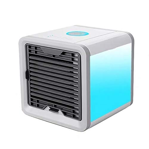 Portable Air Conditioner Fan - Best 3-in-1 Personal Home & Office Desk Swamp Cooler, Mist Diffuser, Humidifier with7 LED Light and UV Purifier | USB for Indoor Home Office Dorms Room