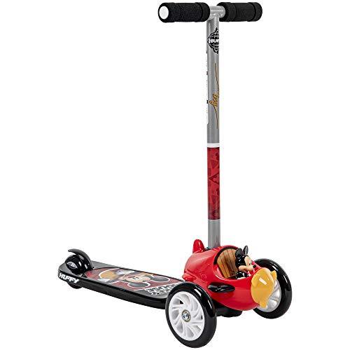 Huffy Disney Mickey Mouse Tilt n' Turn 3-Wheel Scooter, Black