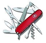 Victorinox Navaja Mountaineer (18 Funciones, Tijeras, Sierra de Metal con Archivo) Rojo