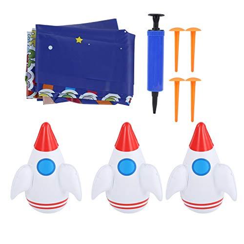 WolfGo Aufblasbare Spieldecke - Aufblasbare Spieldecke Wurfspielzeugmatte Multifunktionales Spielzeug zum Spielen im Freien Picknick-Pad