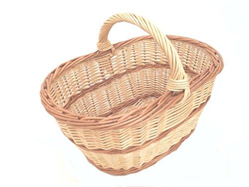 """'Cesta de la compra, """"hilfa rther cesta de mimbre, fabricación alemana, Exclusiv"""